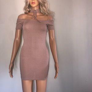 Forever 21 Dresses - Forever 21 - fitted/ribbed chocker dress